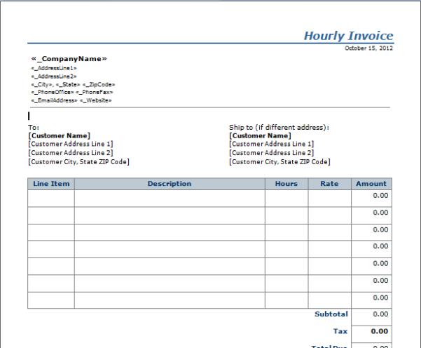 Invoice Templates Printable Free 2