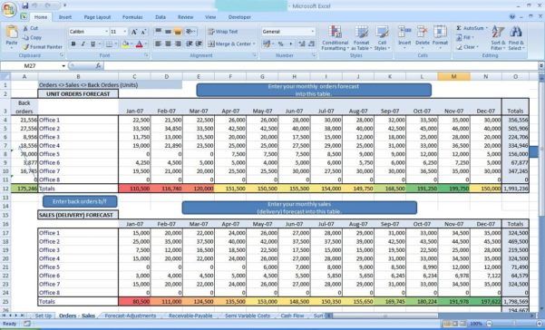 Balance Sheet In Excel 2007