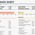 Balance Sheet Template Excel 2013