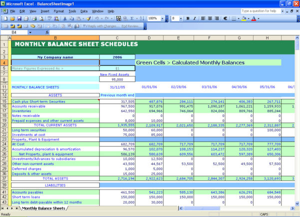 Balance Sheet Template Excel Mac
