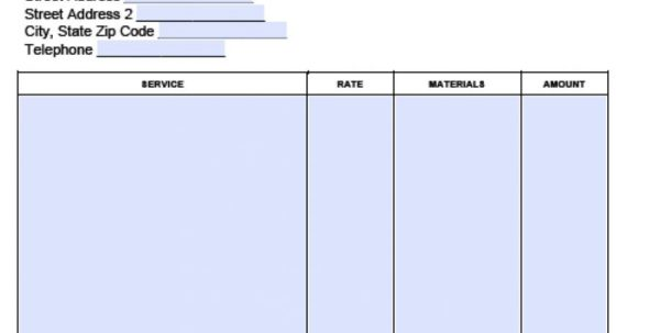 Basic Invoice Template Google Docs