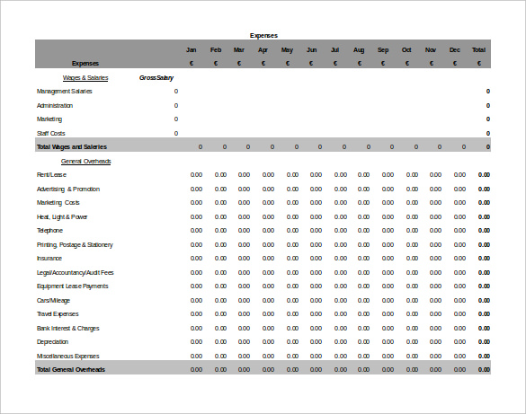 Blank Accounting Worksheet Template