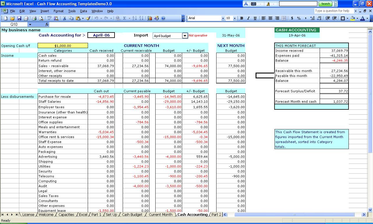 Book Keeping Spreadsheet