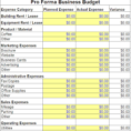 Business Excel Template