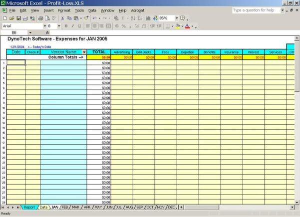 Business Expenses Template Free