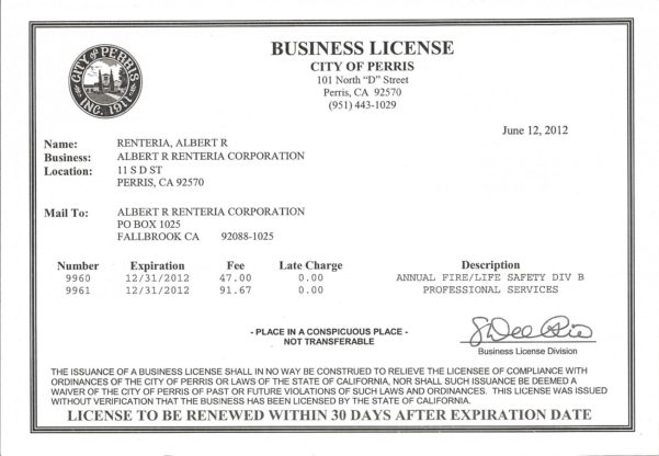 Business License Cost
