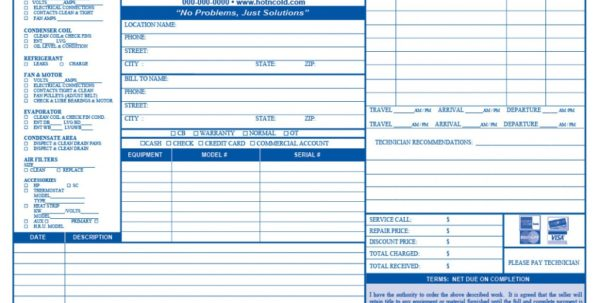 Cheap Hvac Invoices