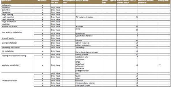 Contoh Format Time Schedule Kegiatan