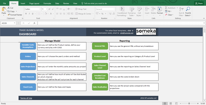 Create Excel Templates
