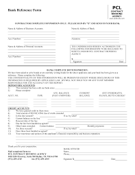 Credit Reference Form Template Word