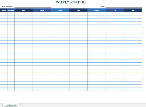 Daily Time Tracking Spreadsheet
