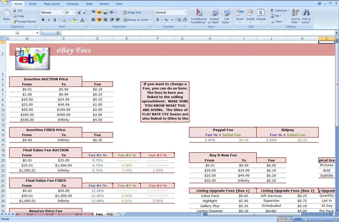 Ebay Profit And Loss Spreadsheet Free Spreadsheet For Ebay Sales Small Business Spreadsheet For Income And Expenses Free Ebay Sales Tracking Spreadsheet Ebay Excel Templates Download Ebay Spreadsheet Free Ebay Profit Track Sales Excel Spreadsheet