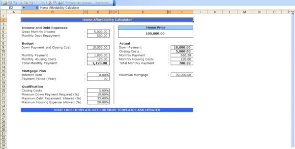 Excel Templates For Mortgage Payments Mortgage Spreadsheet Template Spreadsheet Templates for Business