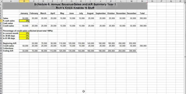 Financial Section Of A Business Plan Template