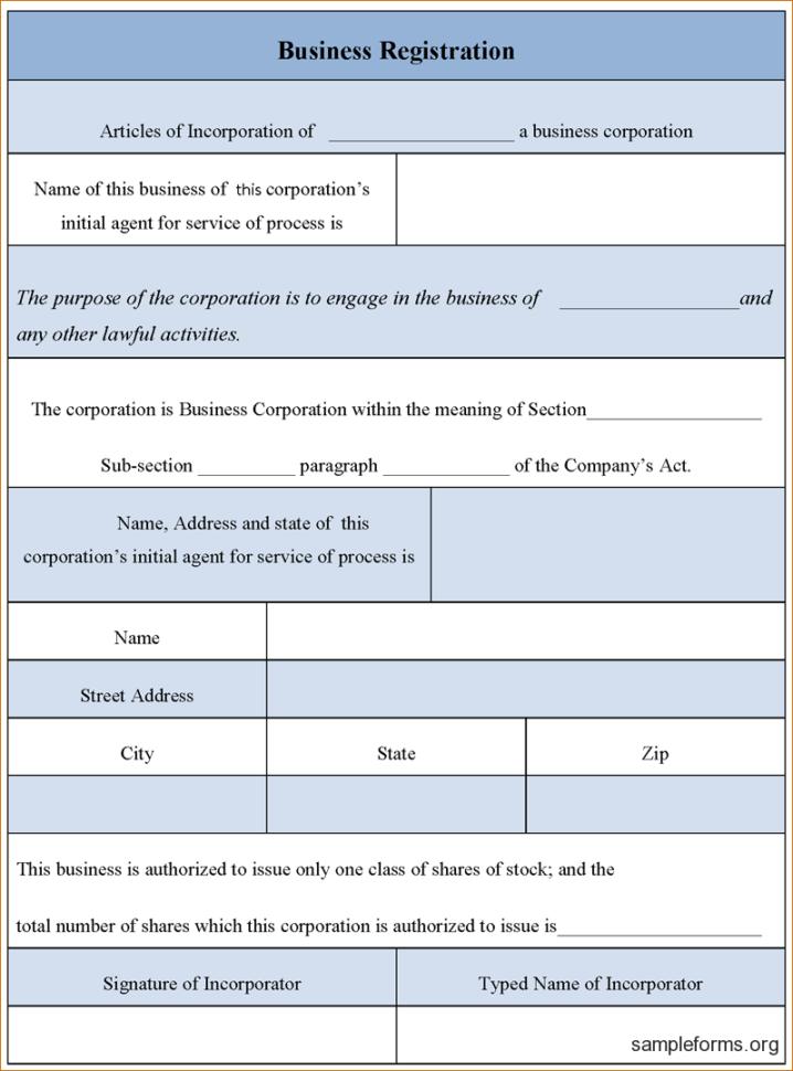 Form Business Letter