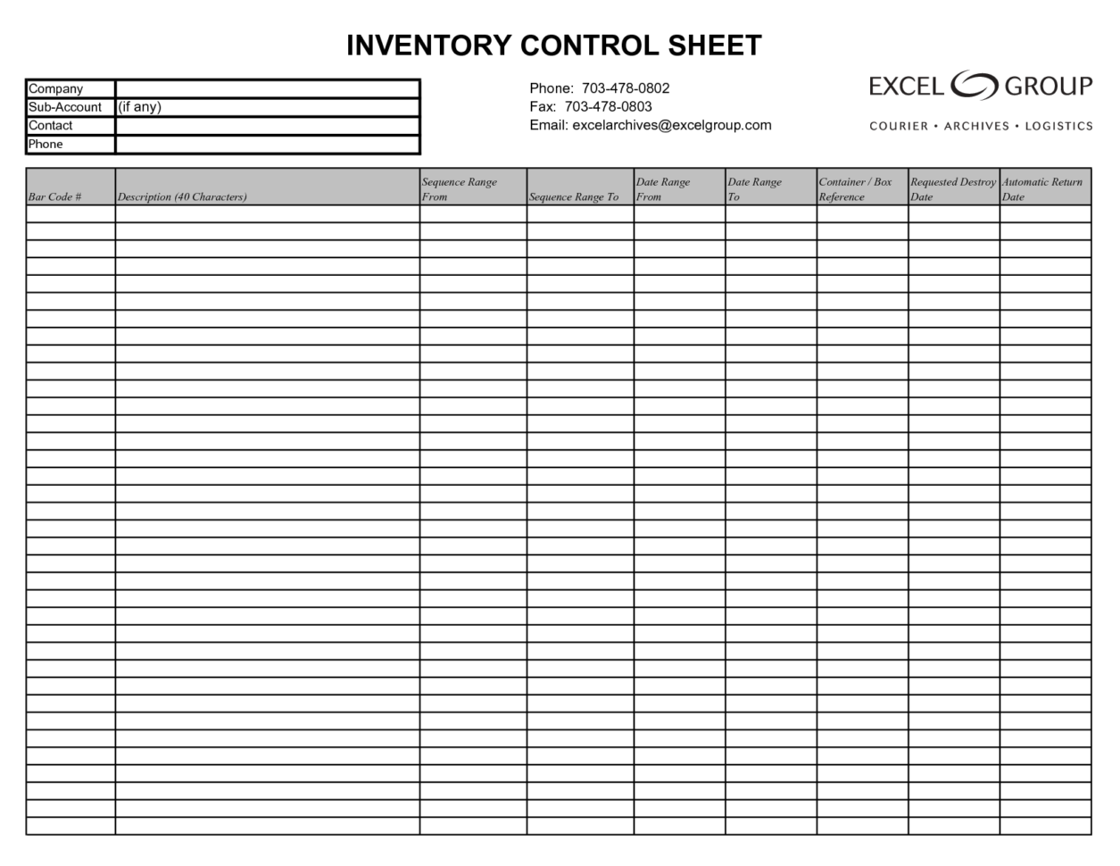 Free Inventory Management Template Excel