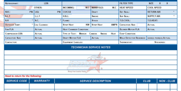 Free Printable Hvac Invoices