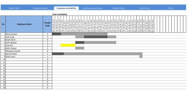 Gantt Chart Excel 2010 Download