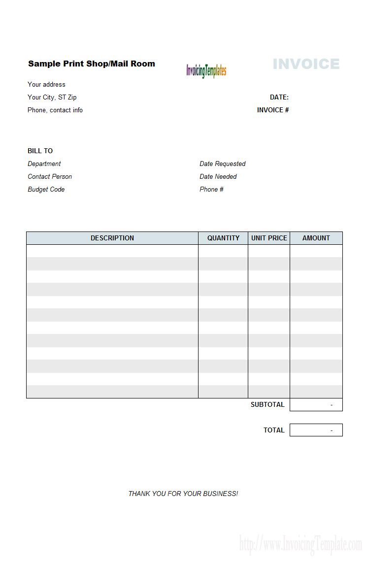 Home Invoice