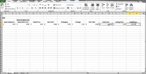 How To Create A Profit And Loss Statement In Excel