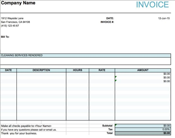 How To Write An Invoice For Cleaning Services