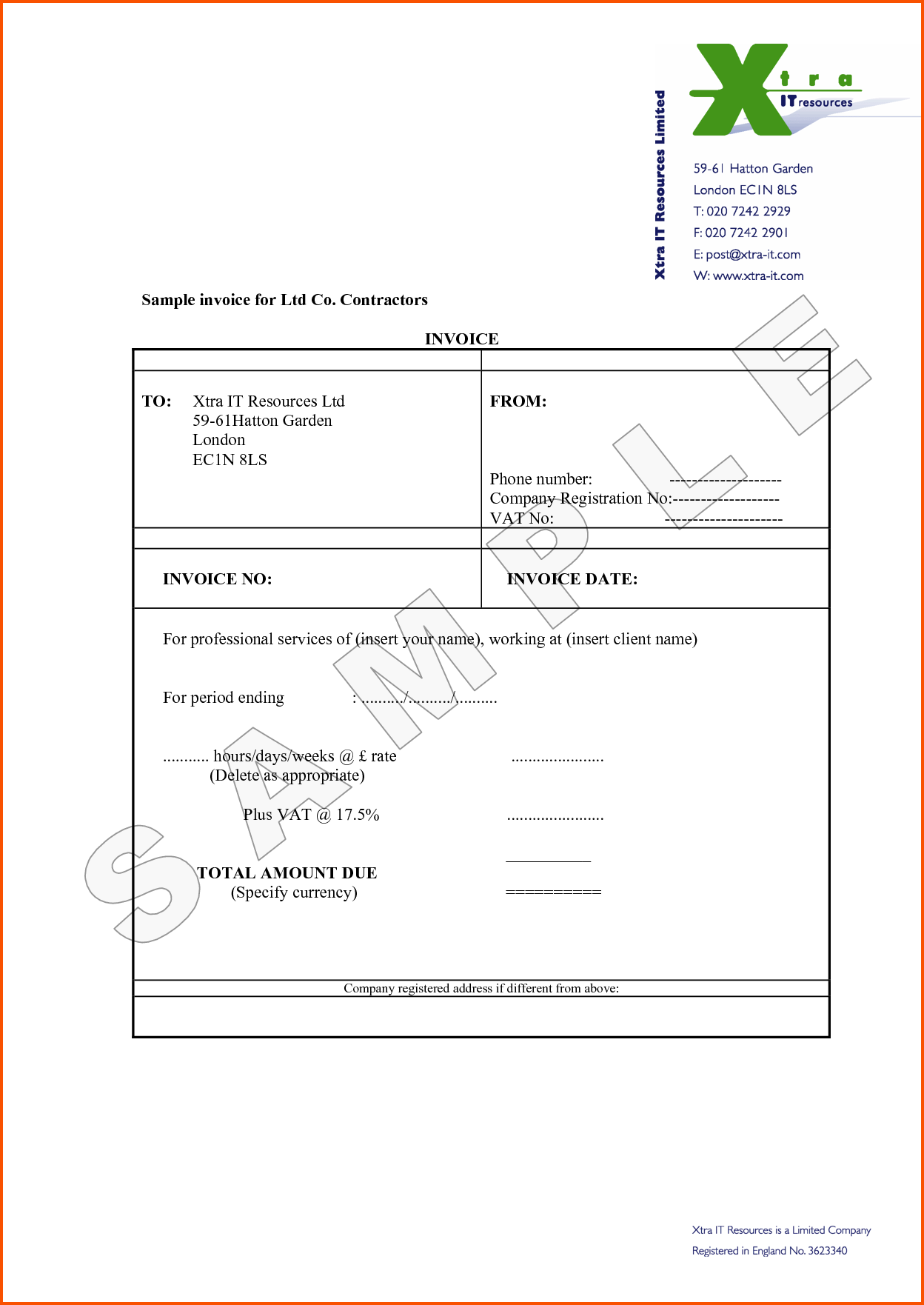 Independent Contractor Invoice Template Trattorialeondoro - Sample independent contractor invoice