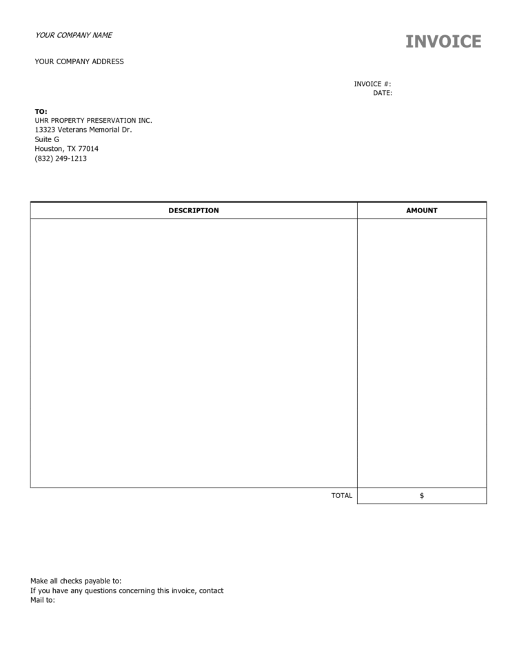 Invoice Template Excel Download Free