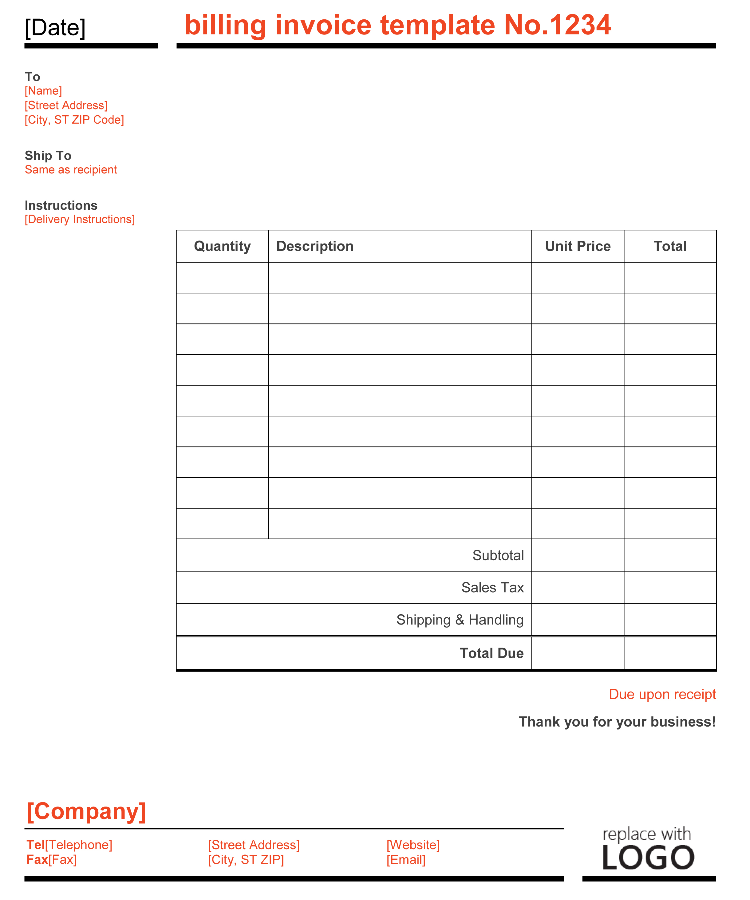 Invoice Template Microsoft Word Mac