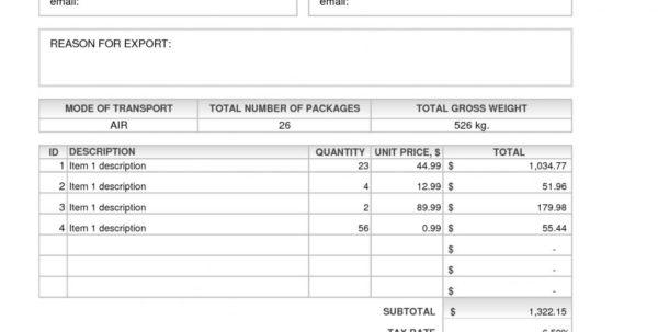 Invoice Template Quickbooks 2014