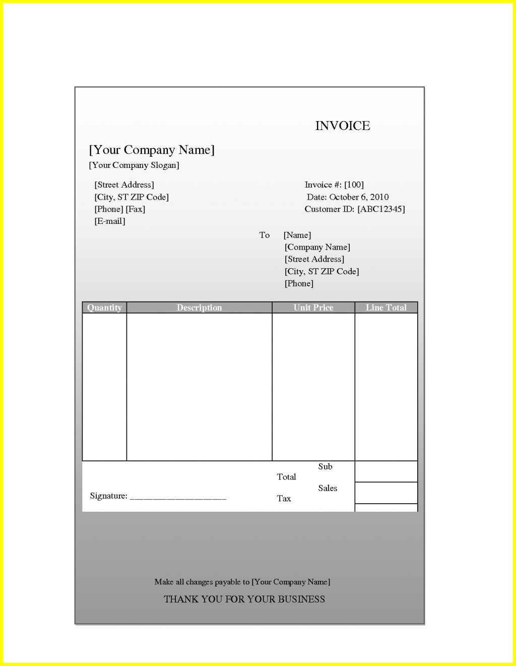 Invoice Template Quickbooks Online Invoice Template Quickbooks Spreadsheet Templates for Busines Spreadsheet Templates for Busines Edit Invoice Template Quickbooks