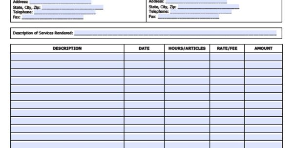 Job Invoice Forms Job Invoice Template Spreadsheet Templates for Business
