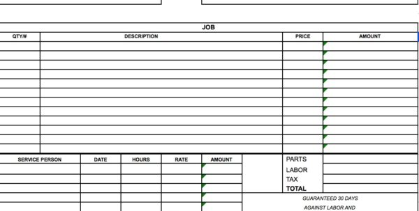 Labour Bill Format In Excel Free Download