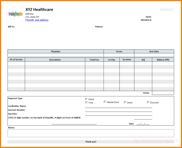 Medical Bill Format For Reimbursement