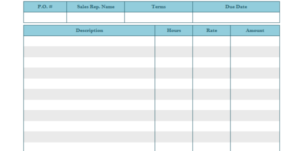 Microsoft Office Sales Invoice Template
