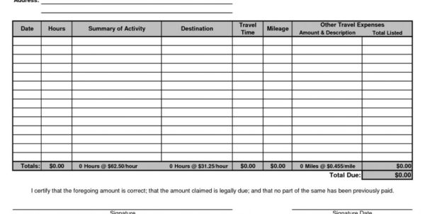 Monthly Invoice Template Free Word