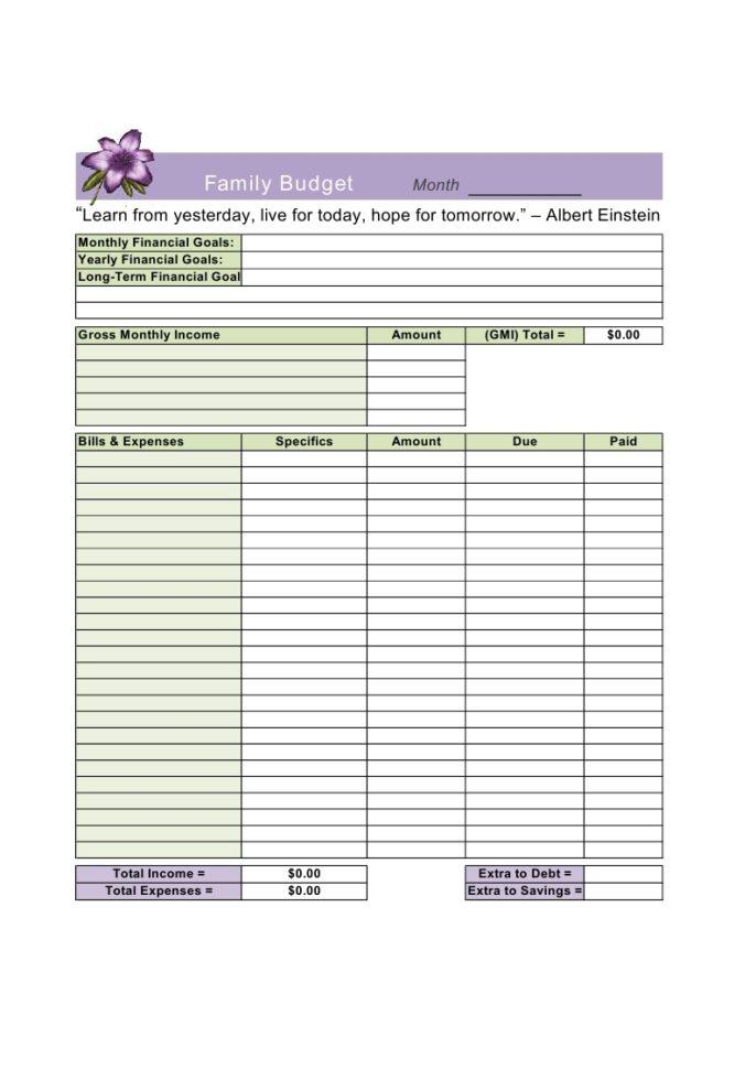 Monthly Spend Spreadsheet