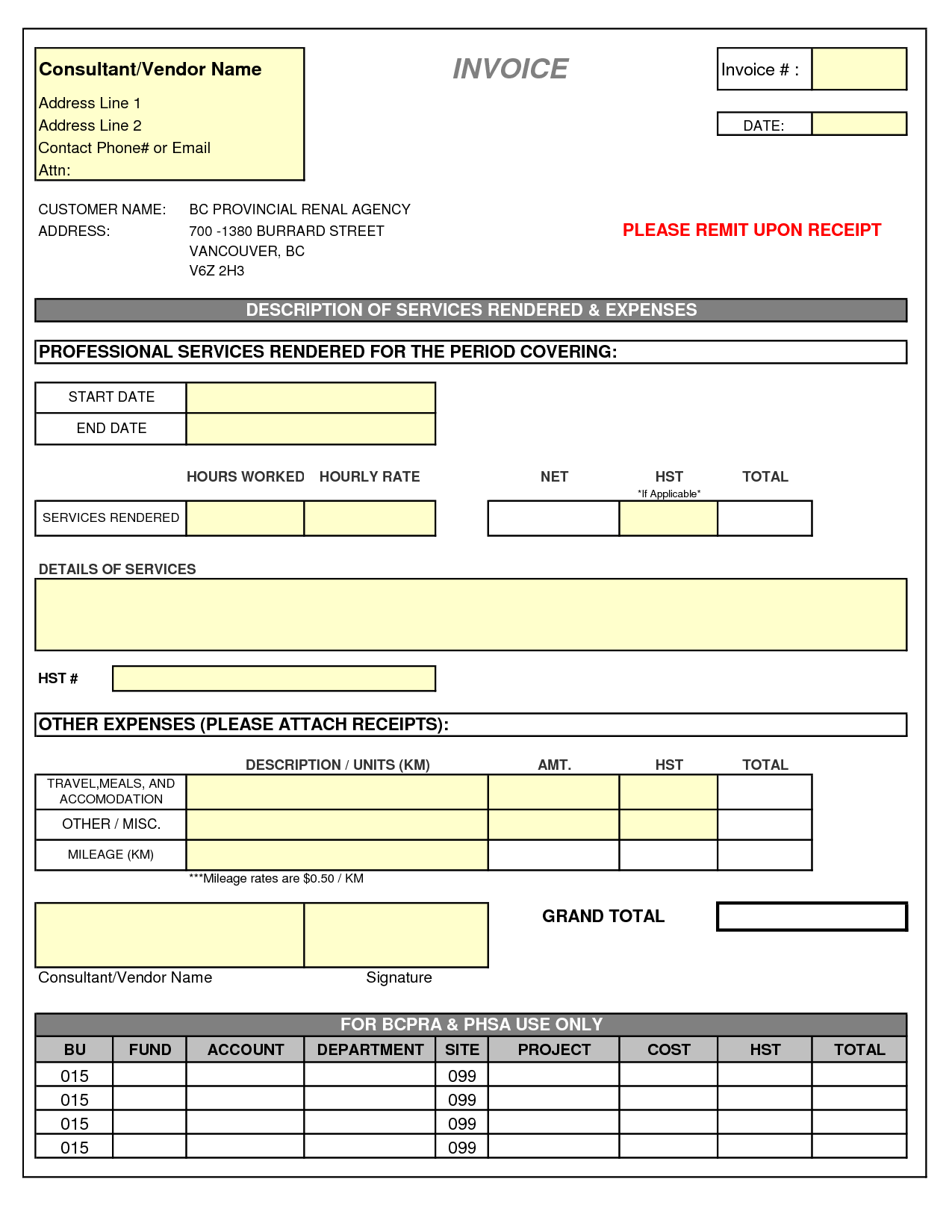 Office Excel Template