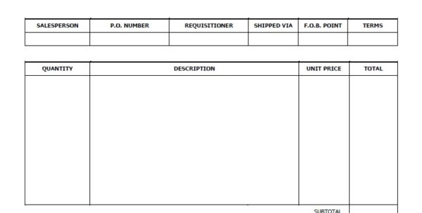Payment Invoice Template Word