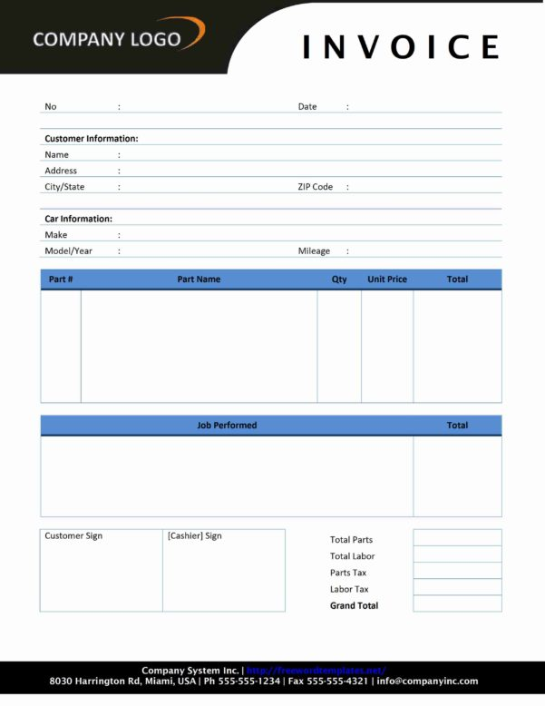 Photography Invoice Template Pdf
