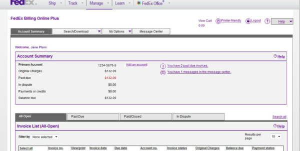 Proforma Invoice Fedex