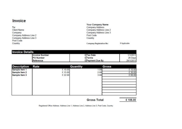 Quickbooks Invoice Sample