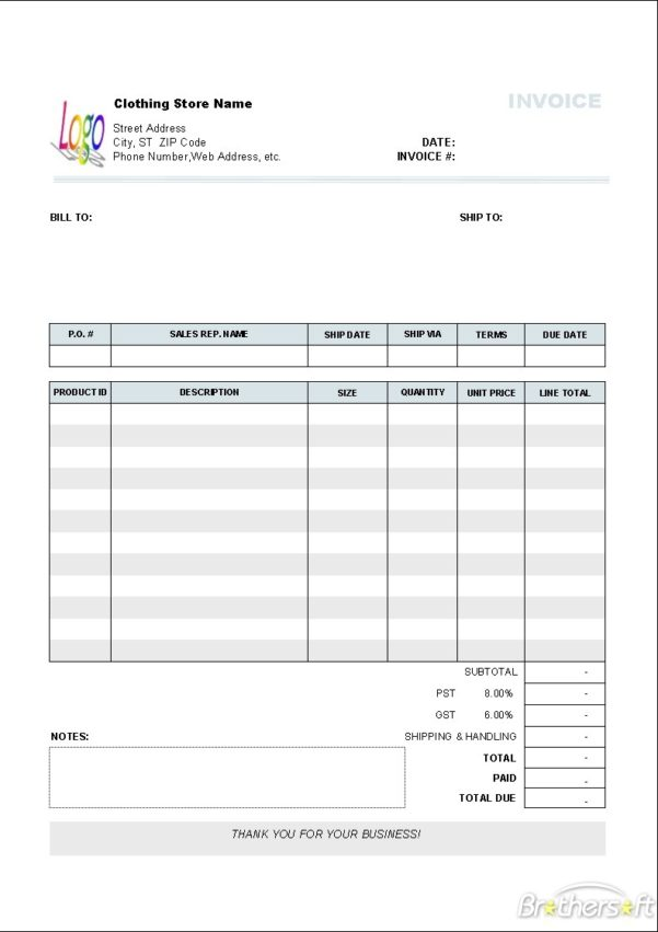 Quickbooks Invoice Template Auto Repair