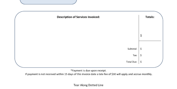 Rent Invoice Template Pdf