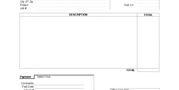 Rental Invoice Template Microsoft