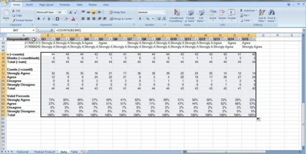 Sample Excel Survey Template