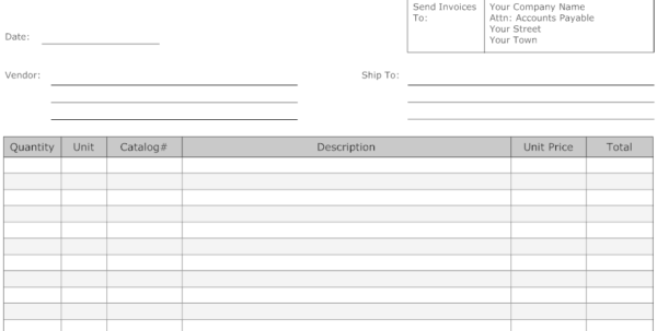 Sample Landscape Invoice Templates