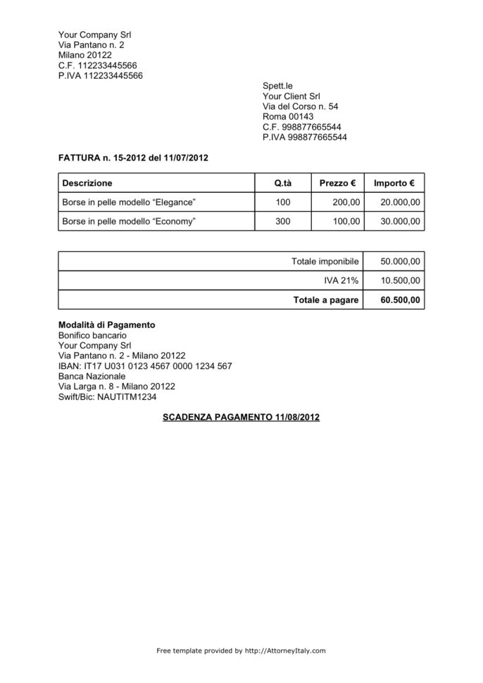Sample Law Firm Billing Invoice