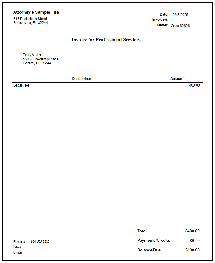 Sample Legal Invoice Services Rendered Legal Invoice Template Spreadsheet Templates for Busines Spreadsheet Templates for Busines Sample Legal Invoice Services Rendered