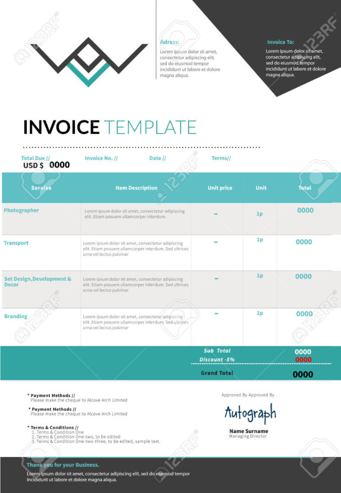 Sample Paypal Invoice