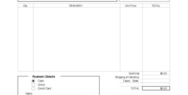 Shipping Invoice Sample